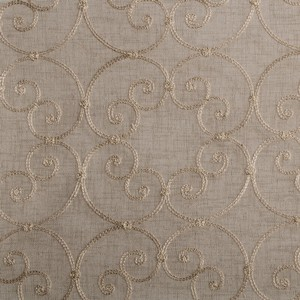 Softline Home Fashions Corby Drapery Panels Swatch in Wheat color.