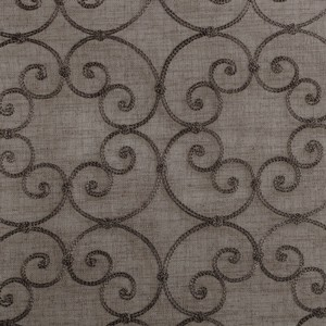 Softline Home Fashions Corby Drapery Panels Swatch in Bark color.