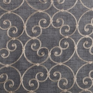 Softline Home Fashions Corby Drapery Panels Swatch in Pewter color.