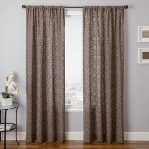 Softline Home Fashions Corby Drapery Panels in Bark color.