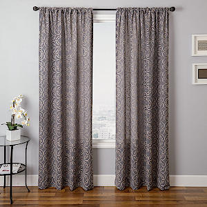 Softline Home Fashions Corby Drapery Panels in Pewter color.