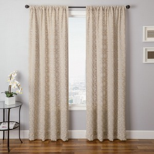 Softline Home Fashions Corby Drapery Panels in Pistachio color.