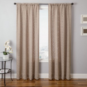 Softline Home Fashions Corby Drapery Panels in Linen color.