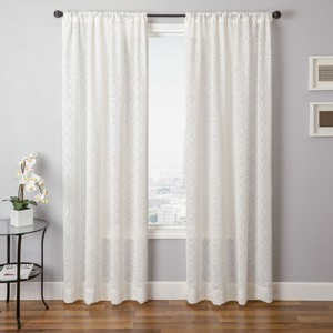 Softline Home Fashions Corby Drapery Panels in White color.