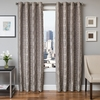Softline Home Fashions Dijon Drapery Panels in Grey color.