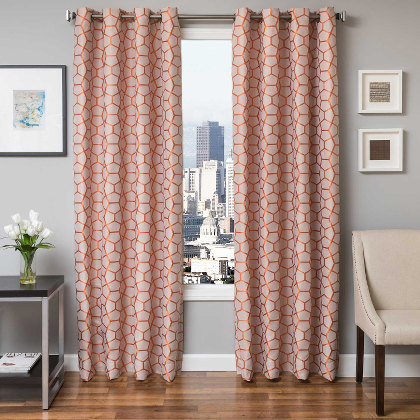Softline Home Fashions Dijon Drapery Panels are available in 5 color combinations.