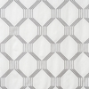 Softline Home Fashions Dresden Drapery Panels Swatch in Pewter color.