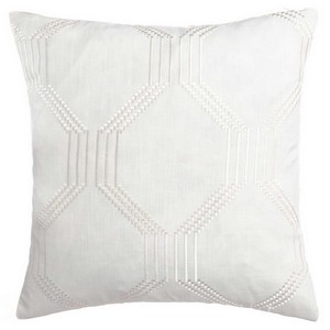 Softline Home Fashions Dresden Decorative Pillow in Bone color.