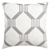 Softline Home Fashions Dresden Decorative Pillow in Pewter color.
