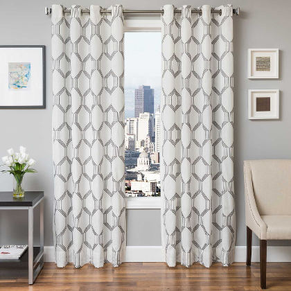 Softline Home Fashions Dresden Drapery Panels are Lined, unlined, and interlined drapery panels in different color choices.
