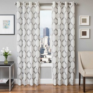 Softline Home Fashions Dresden Drapery Panels in Pewter color.