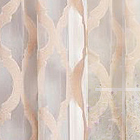 A beautiful burnout sheer with vertical wavy decorative lines.