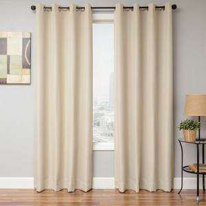 Softline Home Fashions Emmen Drapery Panels in Bone color.