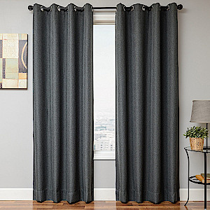 Softline Home Fashions Emmen Drapery Panels in Charcoal Grey color.