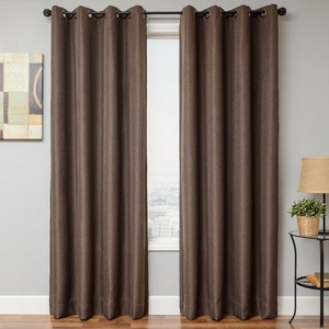 Softline Home Fashions Emmen Drapery Panels in Chocolate color.