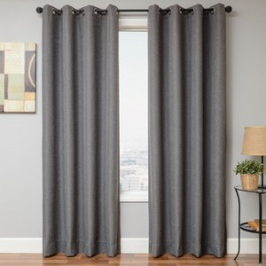 Softline Home Fashions Emmen Drapery Panels in Dark Grey color.