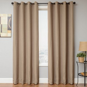 Softline Home Fashions Emmen Drapery Panels in Linen color.
