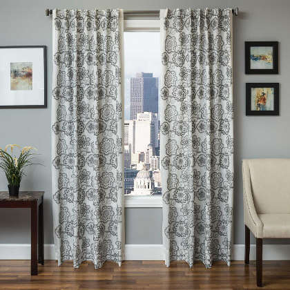 Softline Home Fashions Espoo Drapery Panels are available in 6 color combinations.