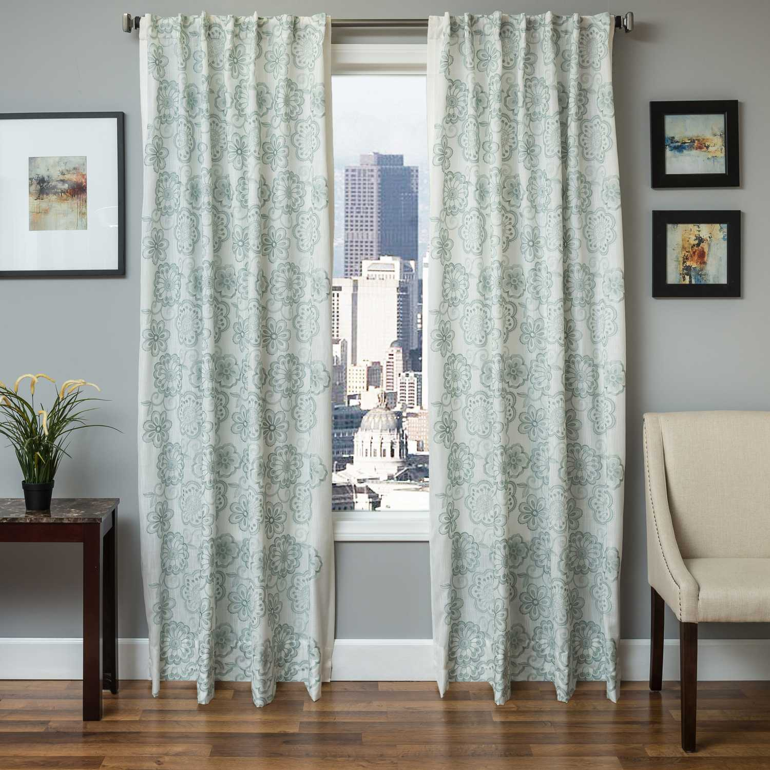 softline home fashions espoo drapery panels color spa swatch available - Drapery Panels
