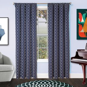 Softline Home Fashions Drapery Frenchtown Panel - Blue/White