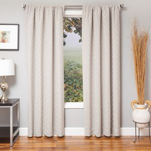 Softline Home Fashions Drapery Frenchtown Panel - Linen/White