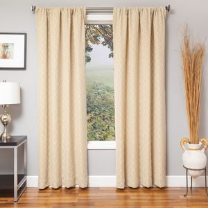 Softline Home Fashions Drapery Frenchtown Panel - Natural/White