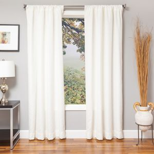 Softline Home Fashions Drapery Frenchtown Panel - White/White