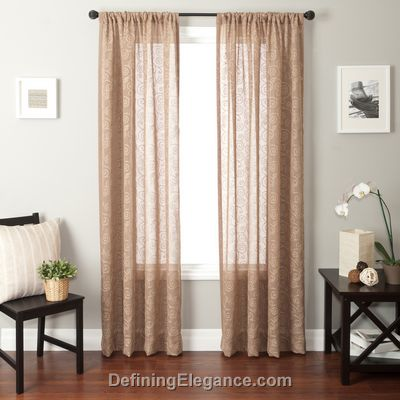 Softline Garrison Drapery Panels are available in 5 colors choices.