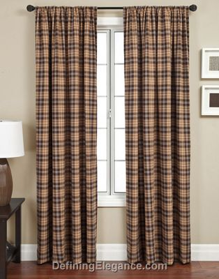 Softline Godeita Check Drapery Panels are available in 2 colorways.