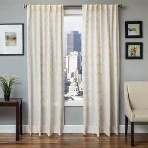Softline Home Fashions Grenoble Drapery Panels in Cream color.