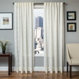 Softline Home Fashions Grenoble Drapery Panels in White color.