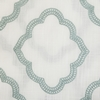 Softline Home Fashions Grenoble Drapery Panels Swatch in White Aqua color.