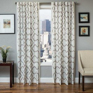 Softline Home Fashions Grenoble Drapery Panels in White Slate color.