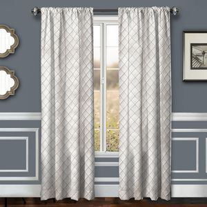 Softline Home Fashions Drapery Lakehurst Small Diamond Panel