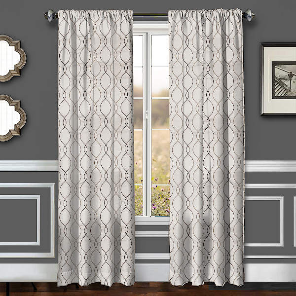 Softline Home Fashions Drapery Lakehurst Wave Panel