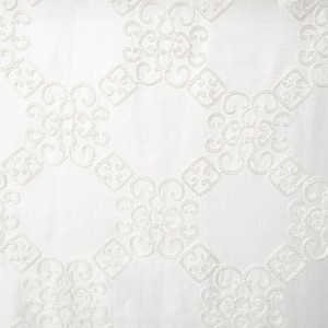 Softline Home Fashions Larissa Drapery Panels Swatch in White color.