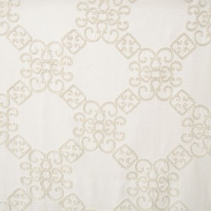 Softline Home Fashions Larissa Drapery Panels Swatch in Natural color.