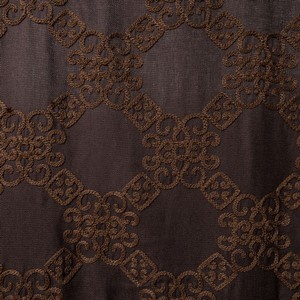 Softline Home Fashions Larissa Drapery Panels Swatch in Chocolate color.