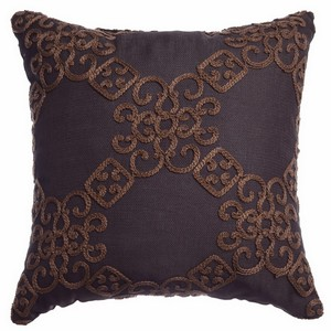 Softline Home Fashions Larissa Decorative Pillow in Chocolate color.