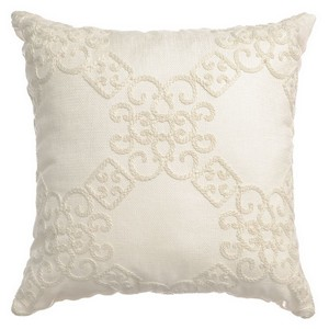 Softline Home Fashions Larissa Decorative Pillow in Natural color.