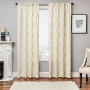 Softline Home Fashions Larissa Drapery Panels in Natural color.