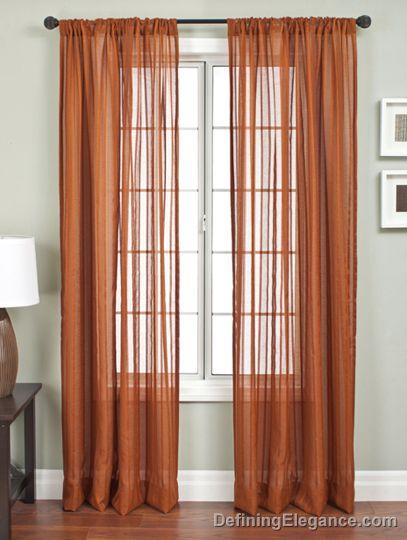 Brand-new UUU Softline Home Fashions Drapery Lithia Stripe Sheer Panels HE02