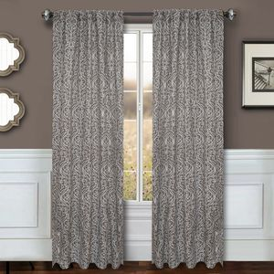 Softline Home Fashions Drapery Livingston Panel and Pillow - Grey
