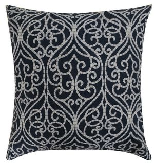 Softline Home Fashions Drapery Livingston Panel and Pillow - Navy