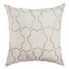 Softline Home Fashions Livorno Decorative Pillow in Champagne White color.