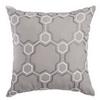 Softline Home Fashions Livorno Decorative Pillow in Gray White color.