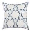 Softline Home Fashions Livorno Decorative Pillow in Navy Sky color.
