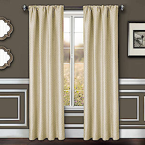 Softline Home Fashions Drapery Morgan Chevron Panel