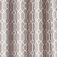 This jacquard drapery has a beautiful interconnecting design that will add ambiance to any room.