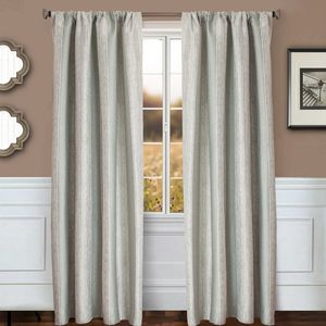 Softline Home Fashions Drapery Morgan Stripe Interlined Panel (6 or More)
